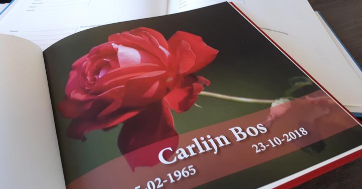 Condoleanceboek persoonlijke pagina