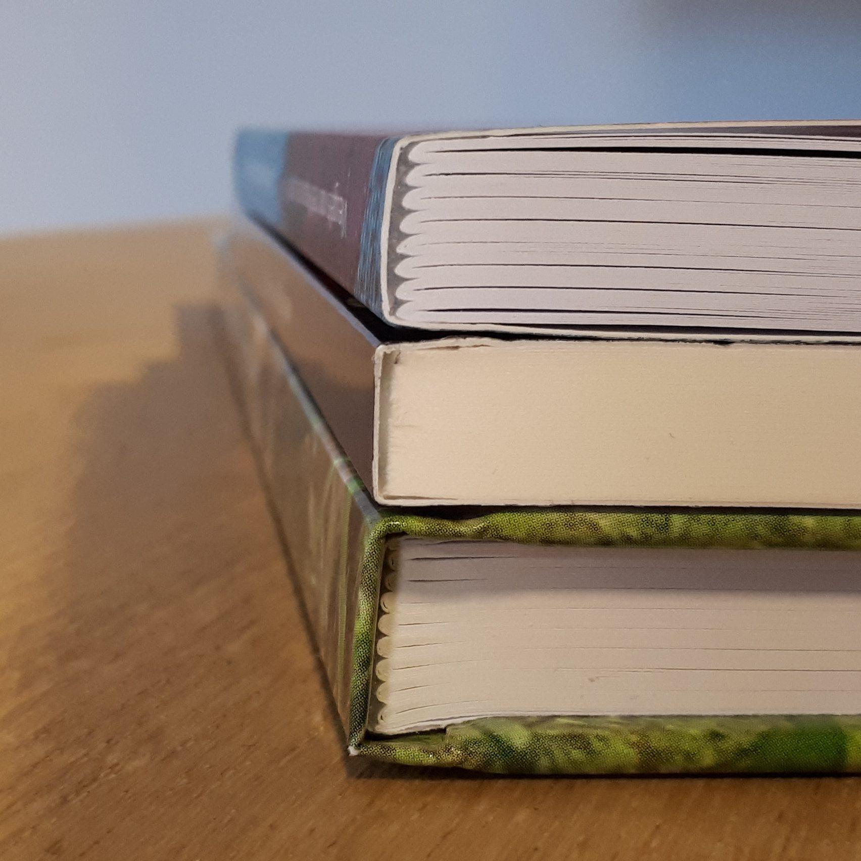 Genaaide hardcover, gelijmde softcover en genaaide softcover