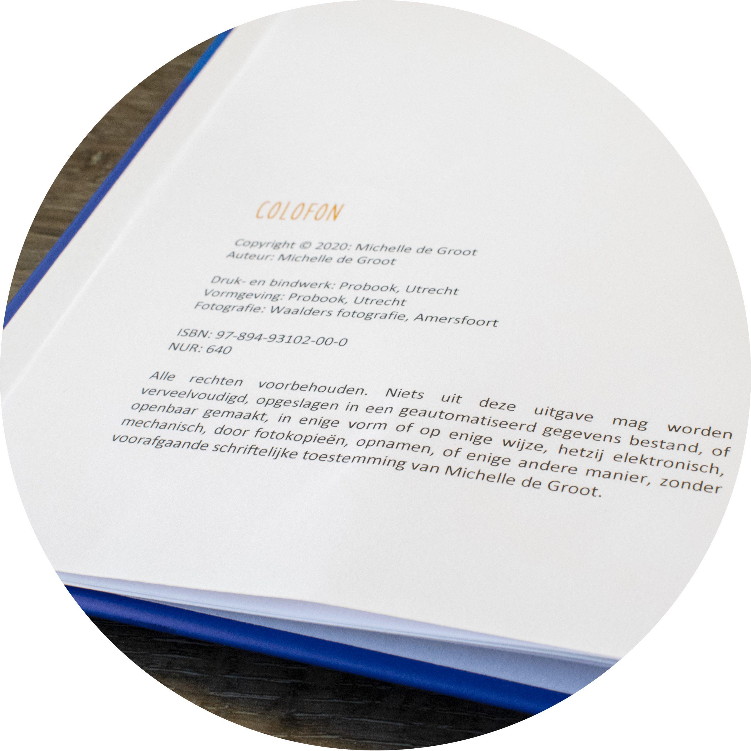 Colofon - auteursrechten