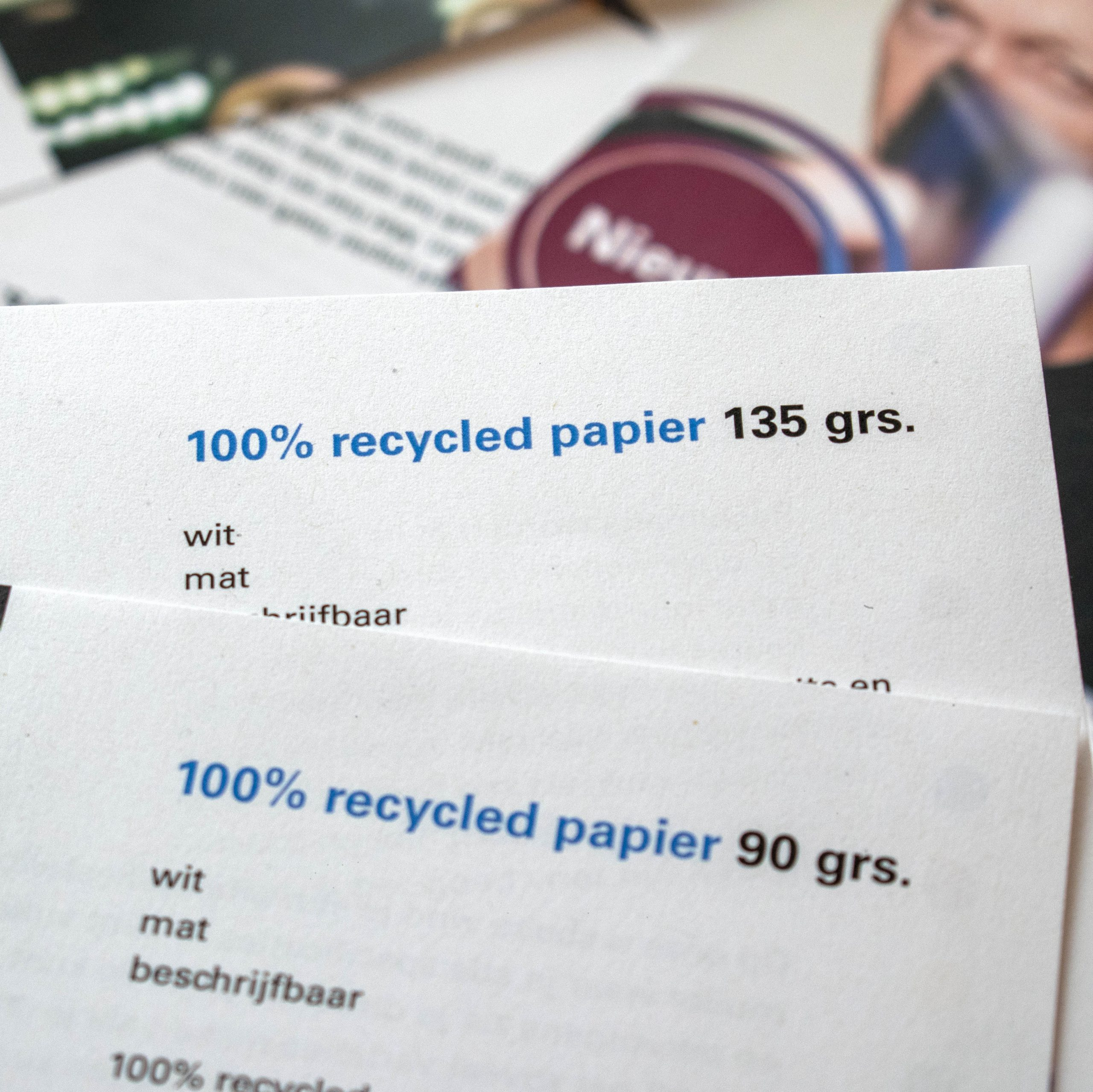 duurzaam boek met recycled papier