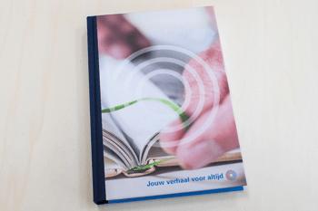 hardcover boek drukken met linnen rug