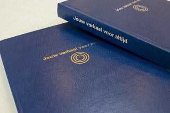 kunstleren hardcover met gouden opdruk