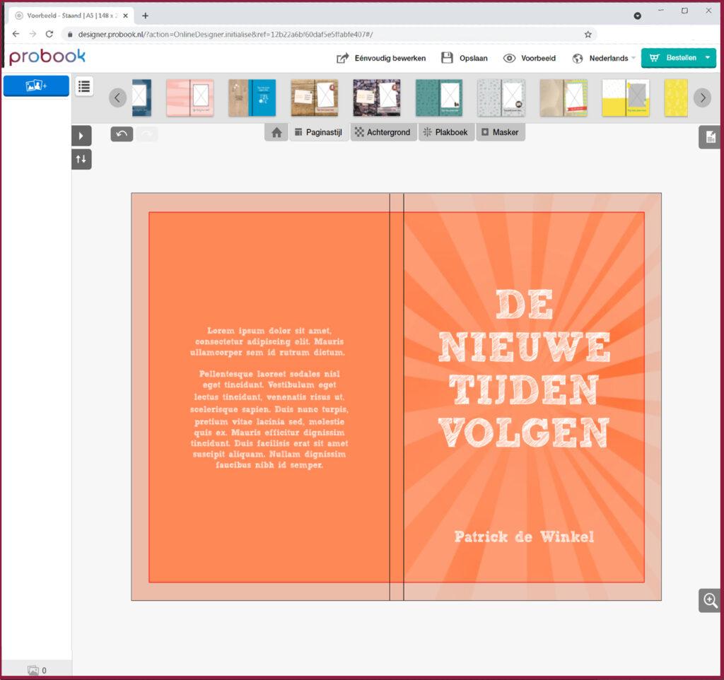 hulp omslag maken boek